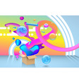 abstract multicolored party background vector image