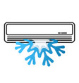 air conditioning and snowflake vector image vector image