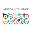 artificial intelligence infographic design vector image