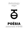 astrology asteroid poesia vector image vector image