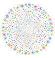 atom swirl round cluster vector image vector image