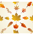 Autumn leaves seamless pattern background EPS10 vector image vector image