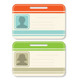 badge template set vector image vector image