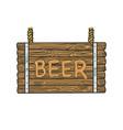 beer wooden signboard sketch vector image