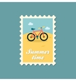 Bicycle flat stamp vector image vector image