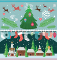 Big set of elements for Christmas designs vector image