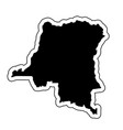 black silhouette of the country democratic vector image vector image