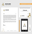 candles business letterhead calendar 2019 and vector image vector image