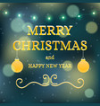 christmas banner background card with text vector image vector image