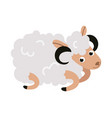 christmas sheep cartoon character flat greeting vector image