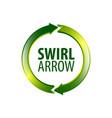circle swirl arrow logo concept design symbol vector image vector image