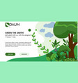 city greening color landing page template one vector image vector image