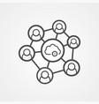 cloud network icon sign symbol vector image vector image