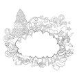 Cloud on icon new year hand lettering vector image
