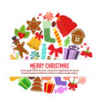 collection of christmas objects for poster vector image vector image