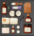 cosmetics spa branding pack mockup natural body vector image vector image
