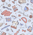Craft tools background vector image