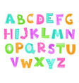 cute decorative funny childish alphabet vector image vector image