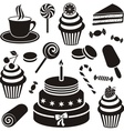 Desserts and sweets icon vector image