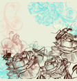 fashion floral background with roses vector image vector image