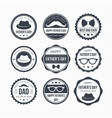 fathers day badge design vector image vector image