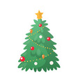 fir-tree decoration with colorful balls vector image