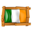 flag of ireland in wooden frame vector image vector image