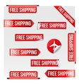 Free Shipping Red Label Design vector image vector image