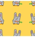funny cartoon bunnies seamless pattern vector image vector image