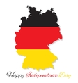 Germany Happy Independence Day vector image
