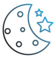 half moon with stars vector image vector image