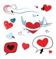 Hearts set Design element vector image vector image