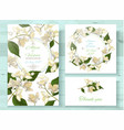 jasmine invitations set vector image vector image