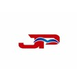 JP Logo Graphic Branding Letter Element vector image vector image
