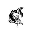 Koi Nishikigoi Carp Fish Woodcut vector image vector image