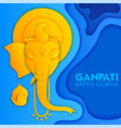 lord ganpati background for ganesh chaturthi vector image vector image