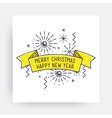 merry christmas happy new year vector image vector image