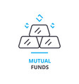 mutual funds concept outline icon linear sign vector image vector image