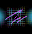 neon dark blue background vector image vector image
