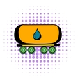 Oil tank icon comics style vector image vector image