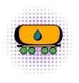 Oil tank icon comics style vector image vector image