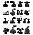 people talking icons set vector image vector image