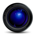 photo lens vector image vector image