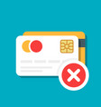 plastic debit or credit card with a payment vector image vector image