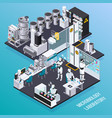 robot isometric professions concept vector image