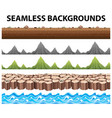 seamless backgrounds with mountains and ocean vector image vector image
