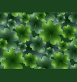 seamless floral texture with a happy four-leaf vector image