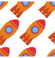 seamless pattern with space rocket vector image vector image