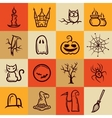Set of retro graphical Halloween icons vector image vector image