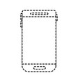 smartphone device icon in monochrome dotted vector image